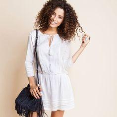 Vestido branco manga longa - alguém aí falou em Ano Novo???