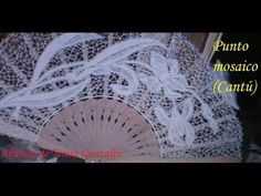 Encaje de bolillos: Punto mosaico (Cantú) - YouTube