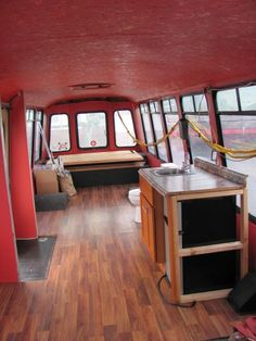 super cool bus conversion Not canned ham but still awesome