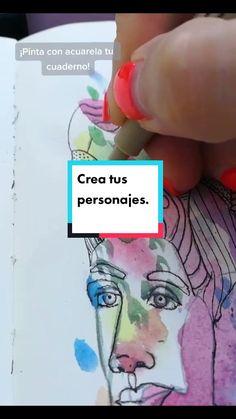 Litca(@litca.art) on TikTok: Jardín🤸♀️🌷 #arte #aprendecontiktok #draw #pintura #acuarela #10kartist #dibujo #ilustradora #color #painting #sketchbook #personajes Painting, Draw, Color, Artist, Artwork, Design, Dibujo, Watercolor Paintings, Notebooks