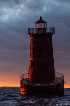 The Sharps Island Lighthouse, in the Chesapeake...
