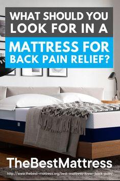 Best Mattress For Lower Back Pain Best Mattress, Mattress Brands, Bedroom Furniture, Bedroom Decor, Lower Back Support, Back Pain Relief, Low Back Pain, Cool Beds, Mattresses