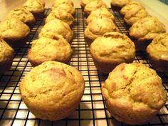Pumpkin Spice Muffins! Only 1/3 cup sugar!