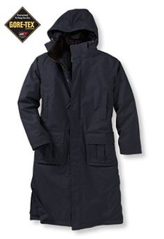 Large, Dark Navy. #LLBean: Nor'easter Commuter Coat with Gore-Tex, Knee-Length