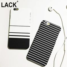 Mobile Phone Bags Cases Fashion Stripe Cover For iphone Case For iphone 5 6  6 Plus Hard White Black Blue Phone Cases Protect Coque Capa Fundas    This  is an ... ec04a7e1ae6a