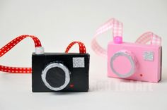 "Matchbox Crafts - Toy Camera - We LOVE recycling and we ADORE crafting with matchboxes (I have always liked all things ""dinky"" since I was a child)! This is a quick and fun craft for kids to make for their toys and dolls. And the best bit, it is a mini art set on the go. Get the kids to draw the pictures they ""take""."
