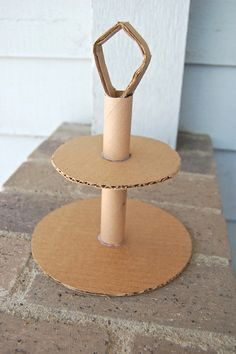 how to make the cardboard tiered cake stand from ikatbag
