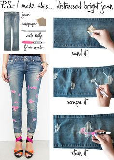 Denim DIY via www.psimadethis.com
