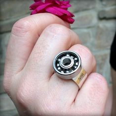 Derbylicious: Your Source for Everything Roller Derby. Showing our love of all women's flat-track roller derby. Metal Jewelry, Custom Jewelry, Roller Derby Clothes, Skate Bearings, City Roller, Roller Skating, Unique Rings, Ring Designs, Rings For Men
