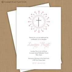 Confirmation invitation. First Communion by brownpaperstudios