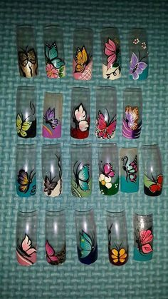 Heat Up Your Life with Some Stunning Summer Nail Art Beautiful Nail Art, Gorgeous Nails, Pretty Nails, Butterfly Nail Art, Flower Nail Art, Creative Nail Designs, Toe Nail Designs, Nail Art Modele, Vanessa Nails