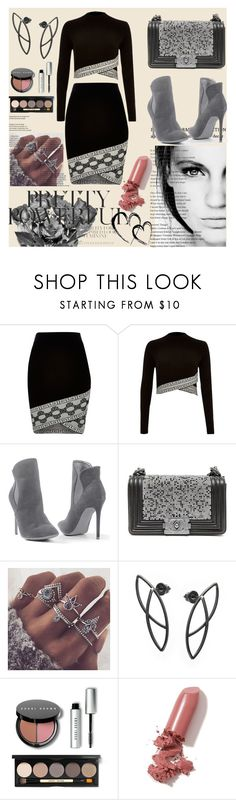 """""""Bez naslova #171"""" by sabina-mehic123 ❤ liked on Polyvore featuring River Island, GE, Venus, Chanel, Bobbi Brown Cosmetics and LAQA & Co."""