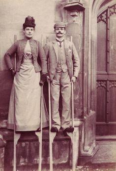 Stilt walkers  My guess? Upper crust victorians trying to avoid the muck and mire of London's streets...