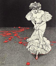 Illustration by German/Austrian artist, Karl Alexander Wilke 1906 Art And Illustration, Illustrations, Antique Illustration, Art Nouveau, Thing 1, Werewolf, Dark Art, Les Oeuvres, Tarot