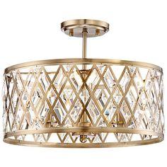 "Possini Euro Tanz 16 1/2"" Wide Satin Brass Ceiling Light"