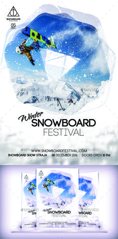 Winter Festival Flyer Template  Festivals Flyer Template And Design