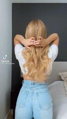 Hairdo For Long Hair, Bun Hairstyles For Long Hair, Cute Hairstyles, Long Hair Dos, Beach Hairstyles, Party Hairstyles, Braided Hairstyles, Hair Tips Video, Hair Videos