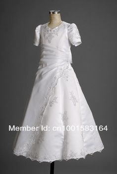 d2ddbeab720 Aliexpress.com   Buy Glamorous A line Best Selling White Floor Length  Applique 2012 Hot Dress from Reliable dress tunics suppliers on wellbridal  dress ...