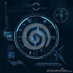 Illustration about HUD and GUI set. Vector illustration for your design. Illustration of screen, future, hologram - 38465247 Dj Pro, Cyberpunk Character, Screen Design, Data Visualization, User Interface, Logo Templates, Ui Design, Infographics, Futuristic
