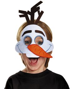 Disney's Frozen Olaf Felt Mask - Do you like warm hugs? Everyone will love this simple and cute felt Olaf Mask. Perfect for Halloween or a fun snowman at Christmas! #YYC #Calgary #costume #Olaf #Frozen
