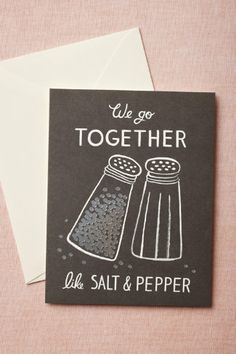 We Go Together Card via BHLDN by Rifle Paper Co.