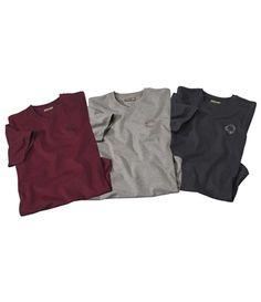 Lot De 3 Tee-Shirt Classics #atlasformen #avis #discount #livraison #commande