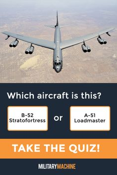 Take our quiz and test your knowledge of different military aircraft! Is this a B-52 Stratofortress or an A-51 Loadmaster? Maybe it's a C-130 Hercules... If you enjoy quizzes and trivia, this one will surely test you. It covers a variety of military aircraft from fighter jets and helicopters to transport planes and stealth bombers. Let's see what you've got! #military #b52 #a51 #aviation #quiz #quizzes #trivia #militaryaviation #aircraft #transportaircraft