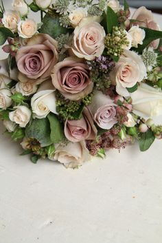The Flower Magician: Vintage Bridal Bouquet to Tone With Mocha