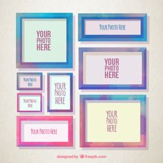Watercolor Vintage Frame Collection Free Vector