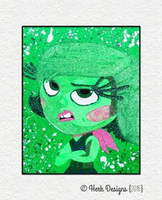 Hey, I found this really awesome Etsy listing at https://www.etsy.com/listing/239776746/inside-out-disgust-disney-pixar-glitter