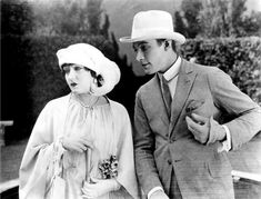 Gloria Swanson & Rudolph Valentino in BEYOND THE ROCKS, 1922