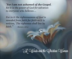 I am not ashamed to stand on what the Bible says...all may leave my side but HE will never.     mwordsandthechristianwoman.com