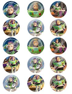 Buzz Lightyear digital collage sheet 8.5x11 2 inches by DesignByJT $2.50 | esty