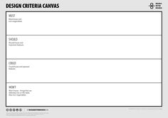 Design A Better Business | Toolbox | Design Criteria Canvas