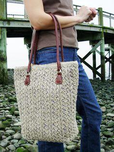 "Knitted tote ""Brighton"" via knitty"