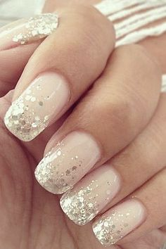 nail art designs with glitter & nail art designs ; nail art designs for spring ; nail art designs for winter ; nail art designs with glitter ; nail art designs with rhinestones Wedding Manicure, Wedding Nails Design, Wedding Makeup, Wedding Designs, Beach Wedding Nails, Bridal Nails Designs, Glitter Wedding Nails, Wedding Nails For Bride Natural, Bridal Pedicure