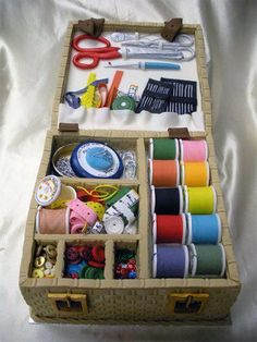 Every scrap of this sewing box cake, down to the thinnest needle is edible.