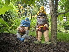 superhero garden gnomes!