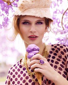 Purple Reign: ru_glamour — LiveJournal Lavender Ice Cream, Lavender Cottage, Megan Park, Marie Claire Australia, Bond, Unicorn Foods, Ice Cream Theme, Plum Pretty Sugar, Shades Of Violet
