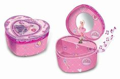 Pecoware / Heart-shaped Musical Jewelry Box, Princess Rose Slippers. The heart-shaped musical jewlery box has been a classic gift for girls for generations. Keep the tradition alive with this beautiful rendition featuring a lid adorned with royal decoraitons and 3-dimentional accents. Watch Jewelry Box, Kids Jewelry Box, Musical Jewelry Box, Music Jewelry, Girls Jewelry, Music Box Ballerina, Ballerina Jewelry Box, Jewelry Armoire, Jewlery