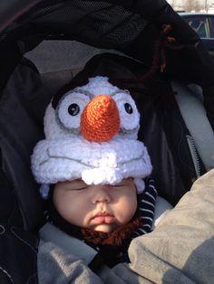 Olaf inspired crochet hat... #Disney #Frozen #WarmHugs  http://www.etsy.com/shop/FullOfKnots?ref=search_shop_redirect