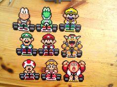 Super Mario Kart Pixel Art perles Hama mini par YurekArt sur Etsy