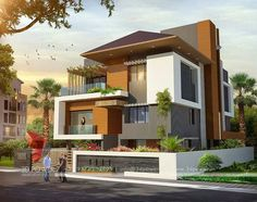 modern house front elevation designs - Google Search | house ...