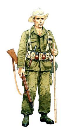 Legionario de infantería, Tonkin, 1950-1954.