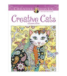 Creative Cats Coloring Book | Adult coloring books are perfect to relax and a great stress reliever.