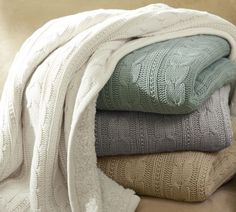 Another cozy throw blanket. All these blankets would definitely fill my leather trunk I want.