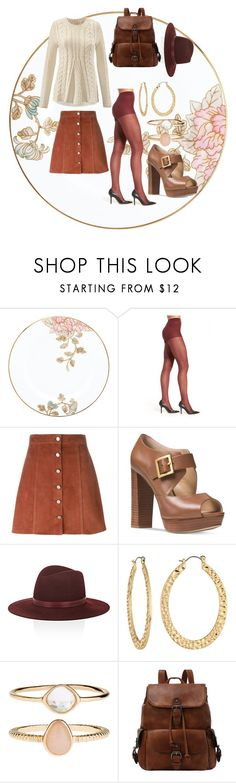 """Untitled #320"" by eclecticgirl20 ❤ liked on Polyvore featuring Lenox, Chelsea28, Theory, CAbi, Michael Kors, Janessa Leone, Fragments and Accessorize"