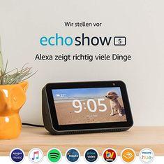 Echo Show 5 NEU kompaktes Smart Display mit Alexa, Schwarz Smarthome Alexa App, Alexa Echo, Sonos, Amazon Echo, Smart Tv, Smart Home, Playlists, Alexa Black, Home Automation Hub
