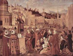 1514 St. Stephen Preaching - Vittore Carpaccio