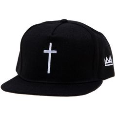 Elevn Clothing Co Cross Hat (129.995 COP) ❤ liked on Polyvore featuring mens, men's accessories, men's hats i black